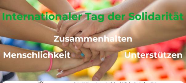 Solidarität - Zusammenhalten - Menschlichkeit - Unterstützen